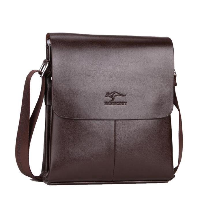 f257a5694b sac à main Hommes Sacs Designer de luxe de haute qualité en cuir pour Homme  célèbre marque Kangourou pour hommes-2948