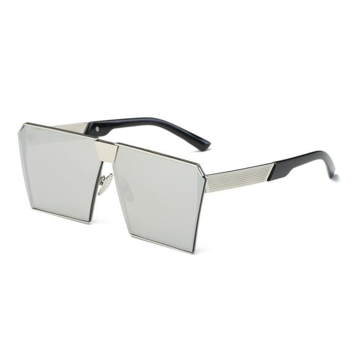 An-983 Femmes Hommes Vintage Retro lunettes de mode unisexe miroir Aviator Objectif Voyage Sungla argent