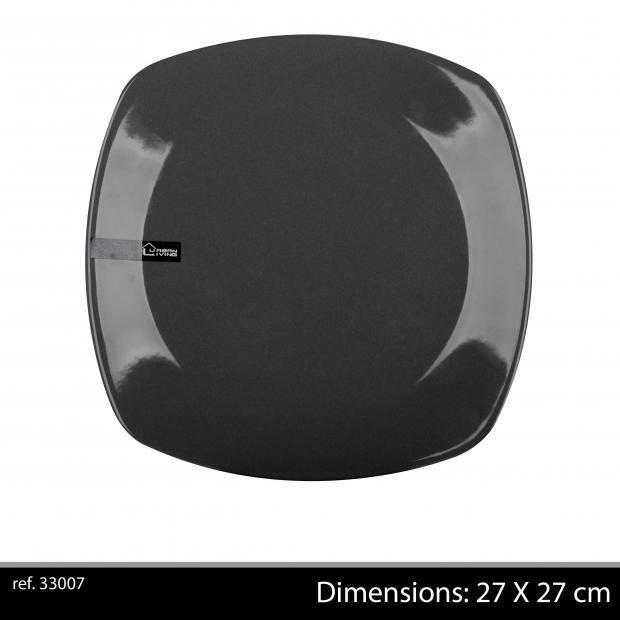 assiette carree noire achat vente assiette carree noire pas cher cdiscount. Black Bedroom Furniture Sets. Home Design Ideas