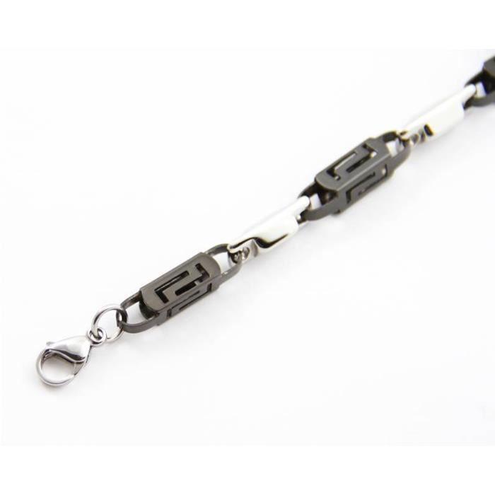 b575d917ea7f5 Beau Bracelet Fantaisie Homme Acier M H 627 - Achat   Vente bracelet ...