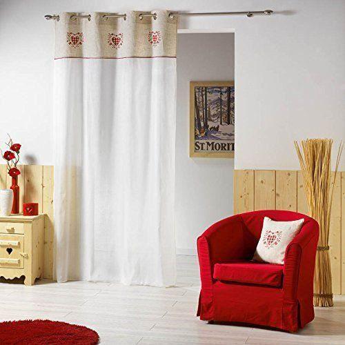 double rideaux montagne achat vente double rideaux montagne pas cher cdiscount. Black Bedroom Furniture Sets. Home Design Ideas