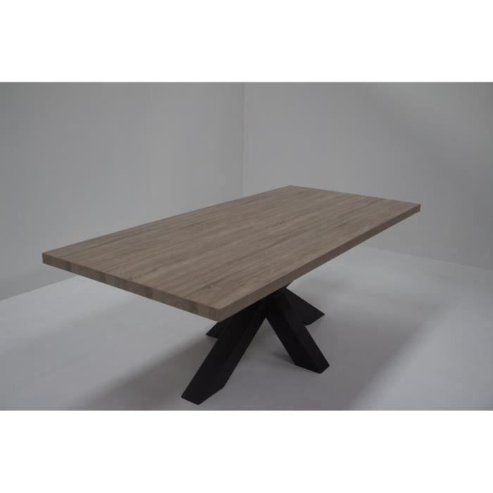 Table De Sajour Celio Avec Pied Central En Matal Coloris Chane
