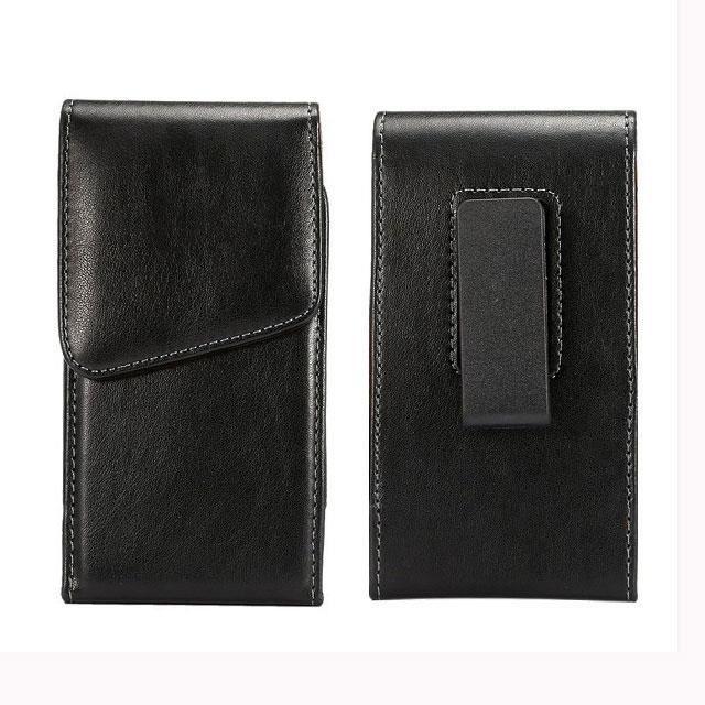 Neuf Noir Étui PU Cuir avec Clip ceinture Pour 4,7 - 5,1 pouces Portable  iPhone 6 6S 7 Samsung Galaxy S4 S5 S6 S7 A5 J5 2016 d71793834b3