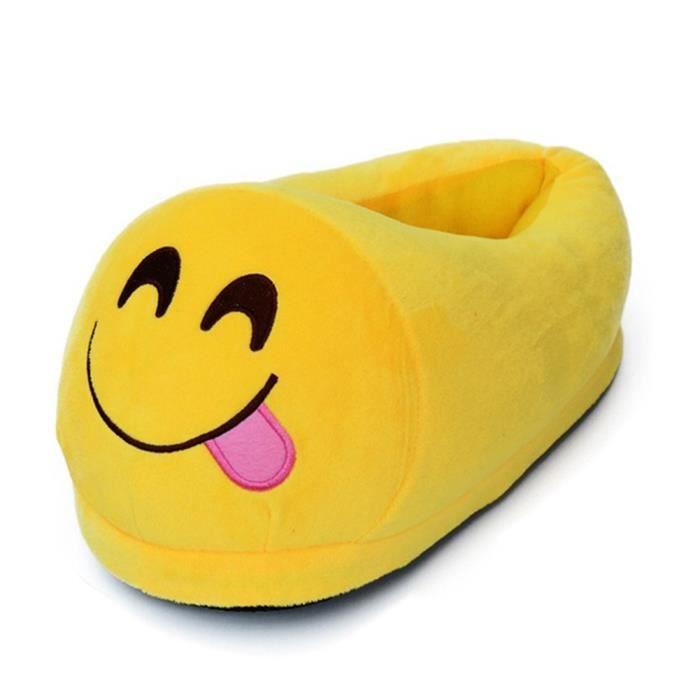 Emoji Hiver Chaussure Pleine Couverture Peluche Chaussons (taille unique) gSm4ix02