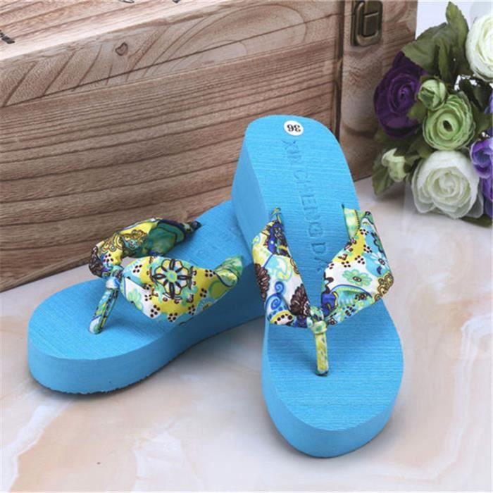 L'été Nouveau Non-Slip Sandales Femme Pantoufles Pour Femmes Tongs Sandales Plate-Forme Intérieure Tongs Pantoufles Sandales BLZsAMXV0r