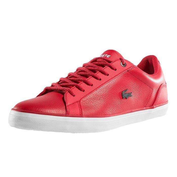 Homme Baskets 4 Lerond Chaussures Rouge Lacoste 317 Cam Ybf67gyv
