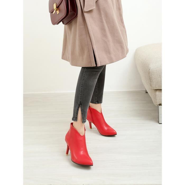 Bottines Faddish Classique Sexy Plus Size Bureau Chaussures femmes 10980618