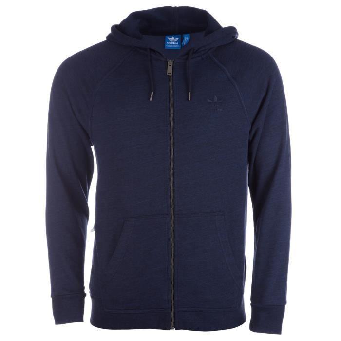 d15c9ea101657 Sweat à capuche Premium Trefoil Zip pour Hommes Bleu Bleu marine ...