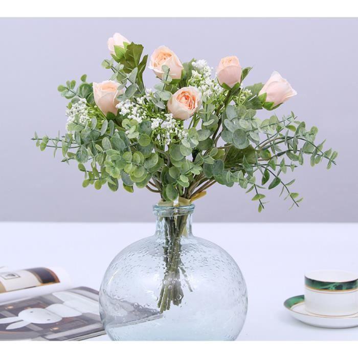 2 Bouquet Fleurs Artificielles Mariage Gypsophile Plante 35cm Pour