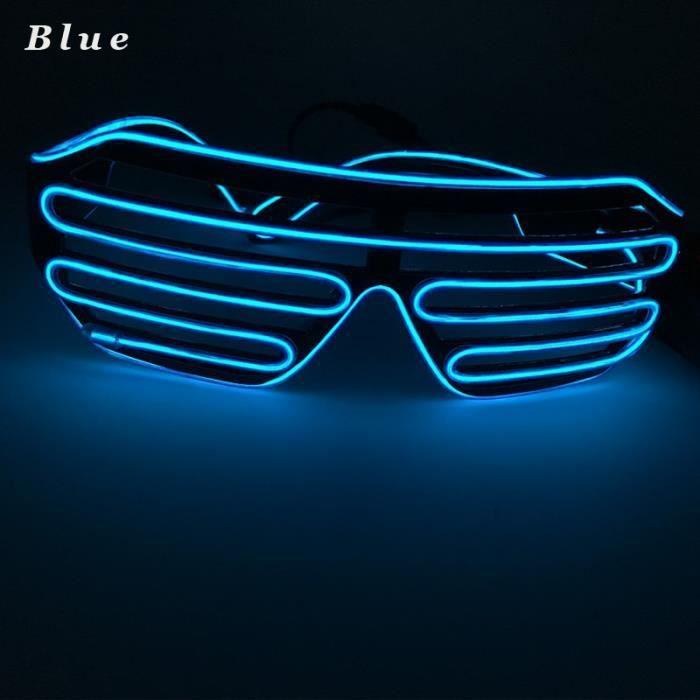 Lnt 180 Lunettes soleils 3 Modes rapide clignotant EL LED glace bleue de fête lumineux déclairage rougeoyants colorés Jouets