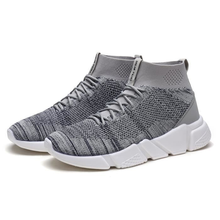 New Fashion Lady Easy Walk Slip-on Poids léger de loisirs Comfort Mocassins Sneakers T8J7B Taille-36 1-2