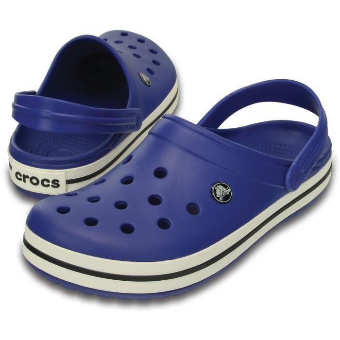 Crocs Sandales Crocband Femme Cerulean Blue/Oyster