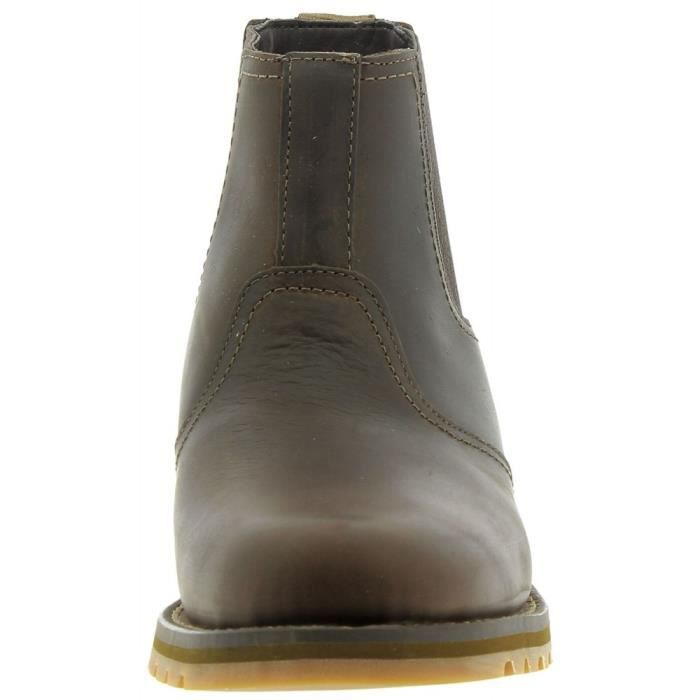 TIMBERLAND - Timberland Larchmont Chelsea Gaucho Homme Bottes Marron