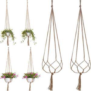 PANIER A LINGE 4 PCS 120 cm panier de plante fleur cintre macramé
