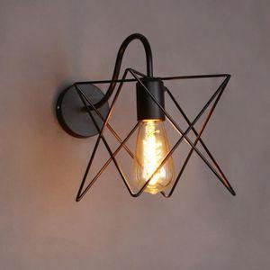 APPLIQUE  Vintage Fer Cage Mur Lampe Rétro Loft Couloir Esca