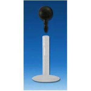 LABRET Piercing Labret Boule Noir Tige Bioflex 8mm