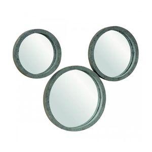 Miroir rond bois achat vente miroir rond bois pas cher soldes d s le 10 janvier cdiscount for Miroir bois gris