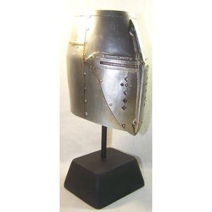 OBJET DÉCORATIF Reproduction heaume de chevalier sur socle 00270f9e394