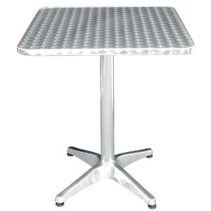 MANGE-DEBOUT Boléro Bistro Table carrée en acier inoxydable 600