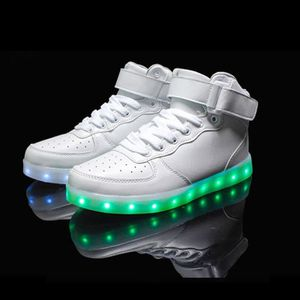 b6dbb25b16e5c BASKET Enfants High Top USB charge LED chaussures clignot