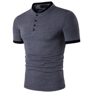 POLO Polo homme manches courte slim grande taille col m 1283978d74b0