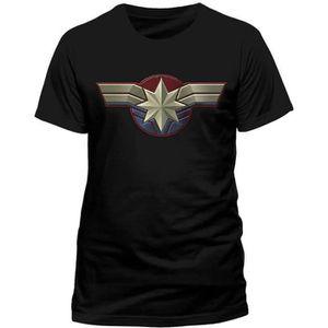 T-SHIRT T-Shirt homme Captain Marvel logo ras du cou