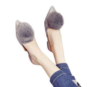 26c002577db32 CHAUSSON - PANTOUFLE Chaussures Femme Automne Chaussons fourrure boule