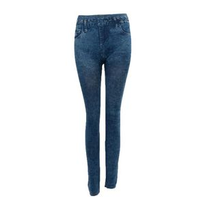 ab0141d1b6396 COLLANT - JAMBIERE Femme Jeans Sexy Maigre Jambiere Collant Jambiere