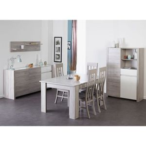 Salle à manger complète gris - Achat / Vente Salle à manger complète ...
