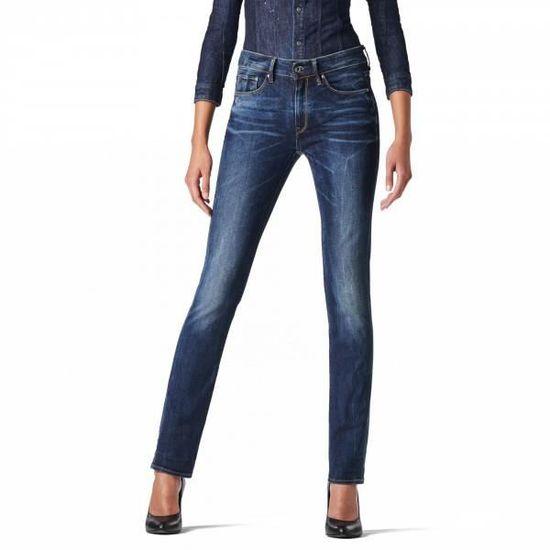 3301 Waist Contour Denim Neutro Stretch Straight High G Star Jeans vmwn08N