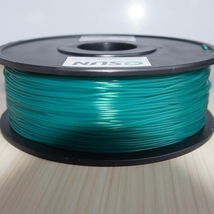 ESUN Filament pour Imprimante 3D PLA ESUN - Vert Bouteille - 3 mm - 1kg