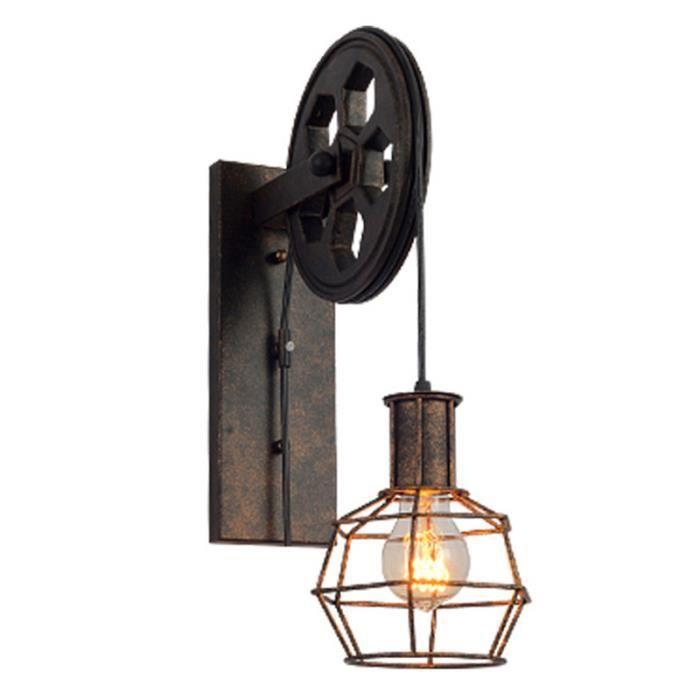 LAMPE Murale Vintage Metal Applique Luminaire Industriel Plafonnier ...