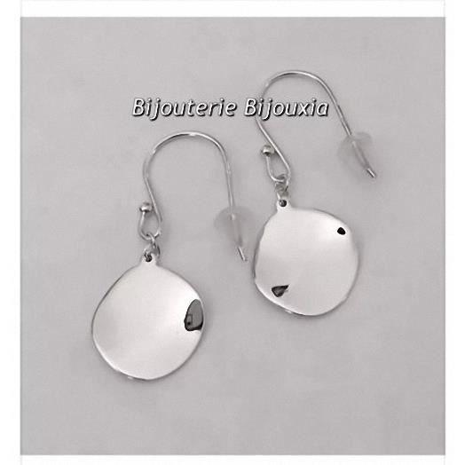Boucles doreilles pendantes Miroir Argent Massif