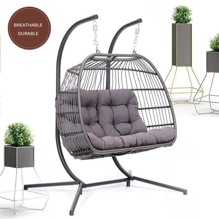 Balancelle de jardin oiseau nid détachable confortable chaise en ...