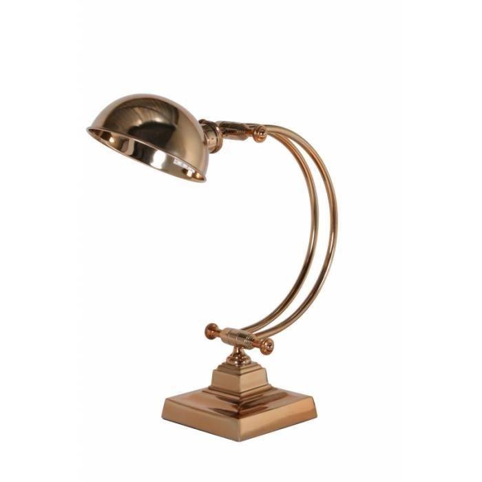 Table Couleur En Lampe À Fer De Luminaire Jour Bronze Bureau Abat Rose Poser Métal 17x17x60cm Rochford Electrique Avec Or cjAL34R5q