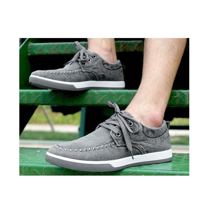Sport Chaussures Washed Fashion Sneakers Summer Hommes Canvas Homme plates Casual pC5wqA0Ox