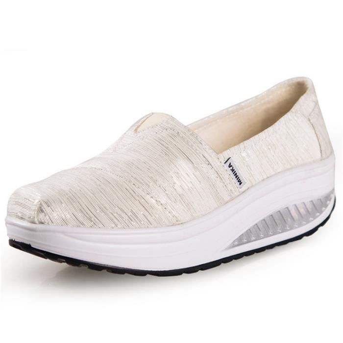 Chaussures Femme Printemps Été à fond épaiséChaussure FXG-XZ064Blanc38