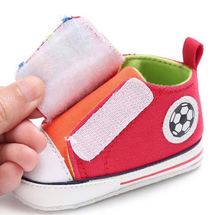 BOTTE Chaussures bébé garçon fille nouveau-né crèche chaussures à semelle souple@Rouge
