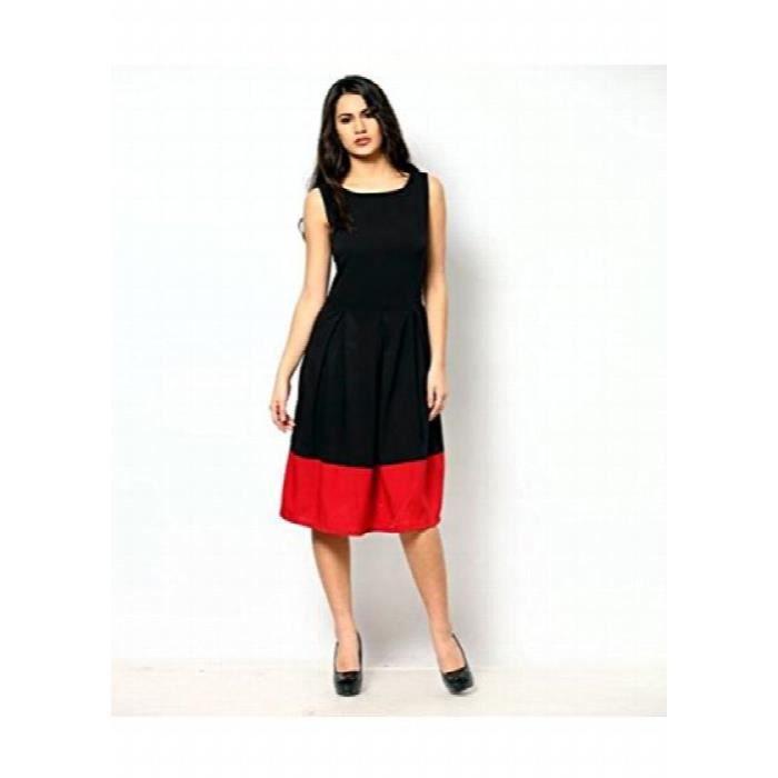 Womens Color Fuel Crepe Black Dress TFGRB Taille-38