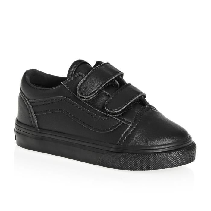 vans chaussures for kids noir and blanc