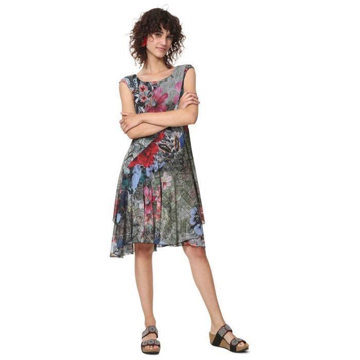Vêtements Desigual KarukaRobe Maille Courtes Robes En À Manches Femme sdQCthxr