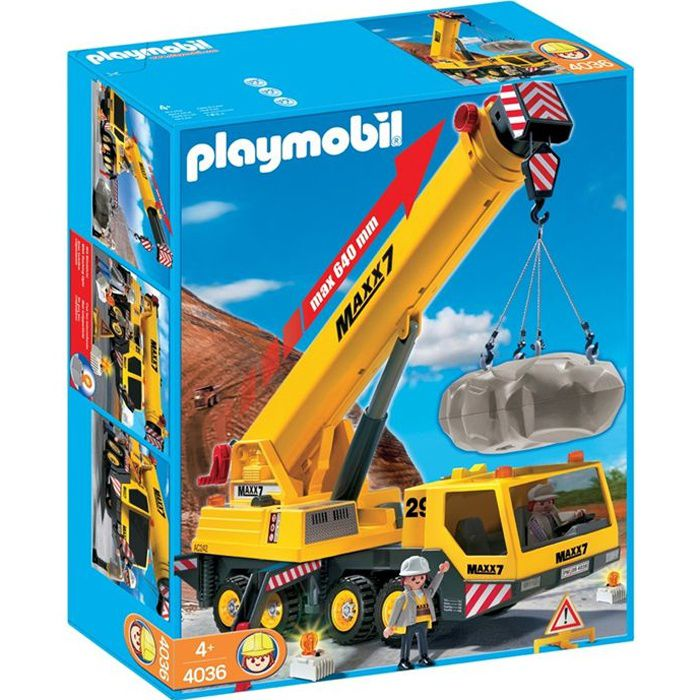 playmobil 4036 grue mobile g ante achat vente univers miniature cdiscount. Black Bedroom Furniture Sets. Home Design Ideas