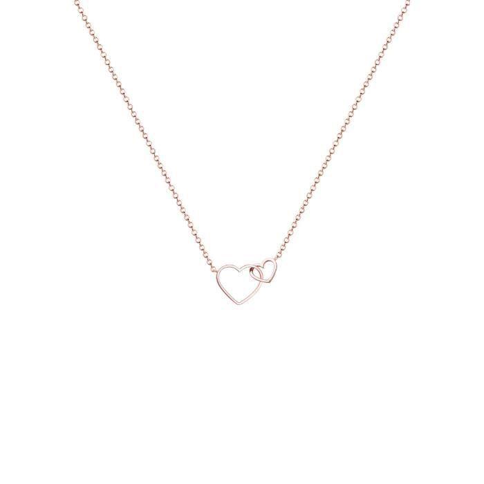 Elli Plaqué or argent 925 coeur Collier de longueur 45cm 0112130216_45 Z8P0R