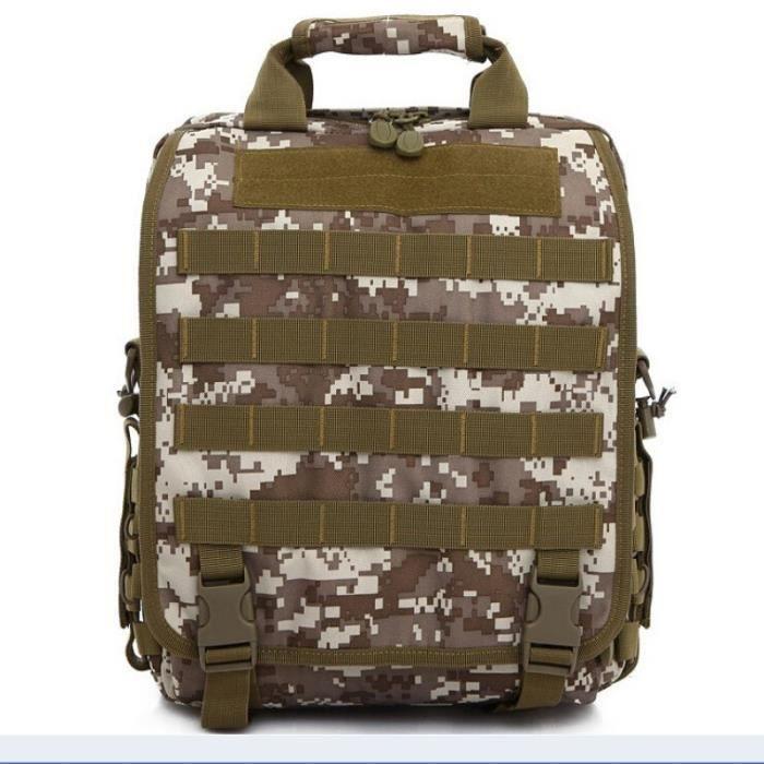 Demeuble-6255 Sac tactique de camouflage Silt Packet unisexe Sports de plein air Sacs à main Sacs à bandoulière Zipper Sacs à dos