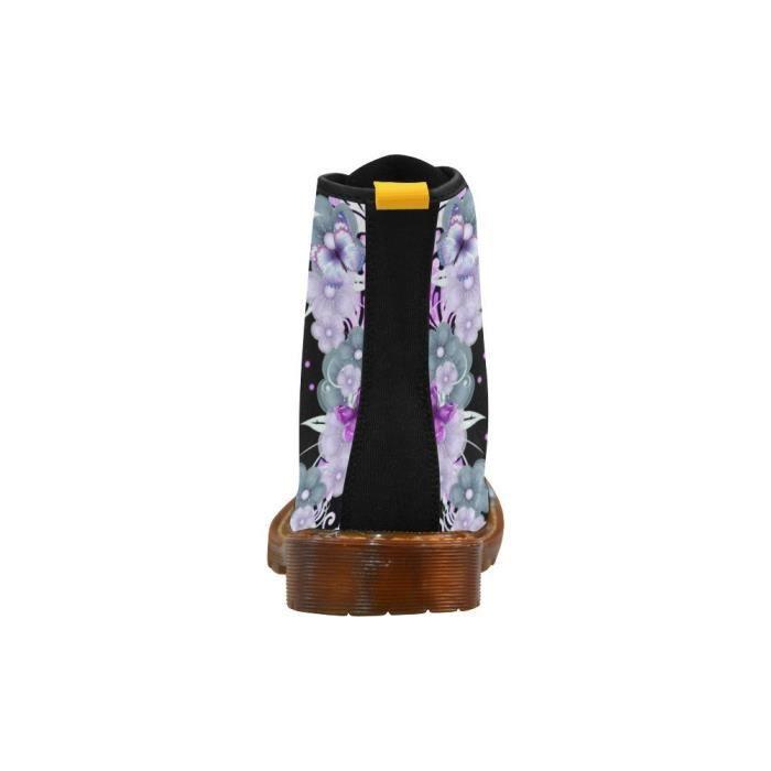Crâne de sucre et fleurs refroidissent Bottes en toile de fille pour les femmes FIXCI Taille-42 YWJqBXo4LD