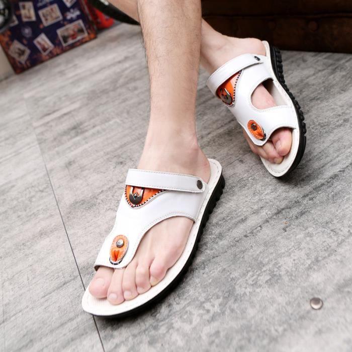 Nouveau Style d'été hommes sandales pantoufles ...