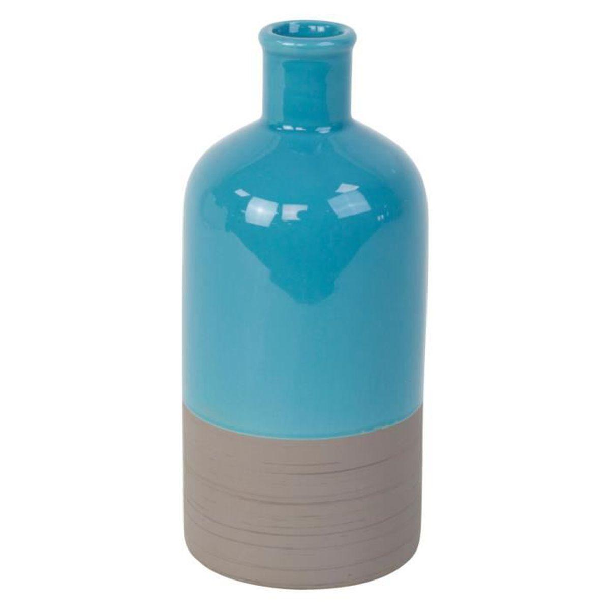 vase contemporain de couleur contrast e en c ramique bleue. Black Bedroom Furniture Sets. Home Design Ideas