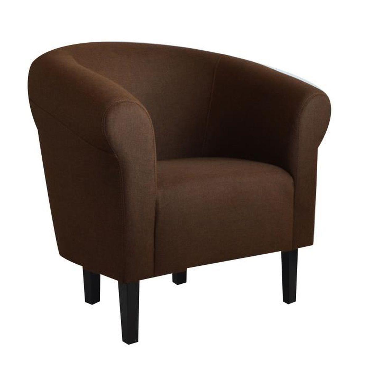 Fauteuil crapaud monaco savane brun chin achat vente fauteuil cdiscount - Fauteuil crapaud cdiscount ...
