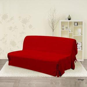 HOUSSE DE CANAPE Housse de clic-clac rouge 120 cm x 140 cm x 185/20