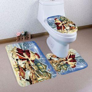 ABATTANT WC 3PCS Noël Salle de bains non-Slip Socle Tapis + co